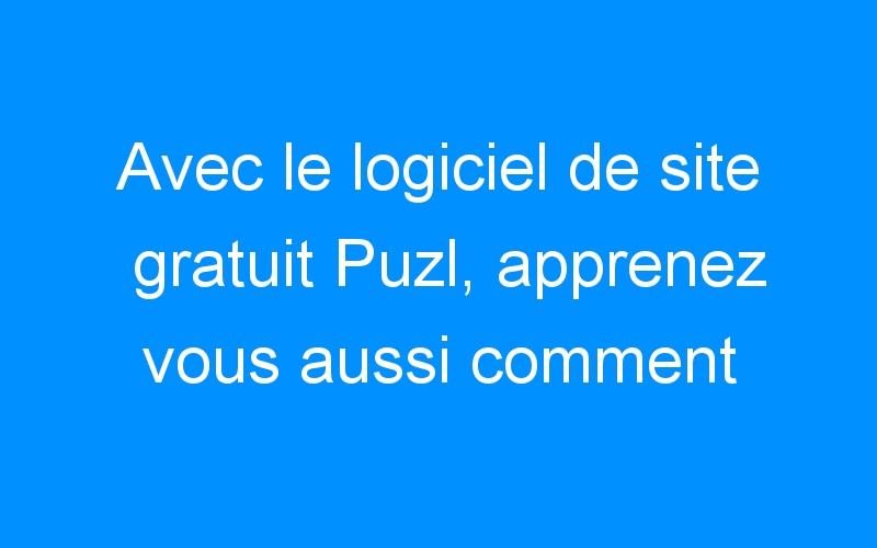 Avec le logiciel de site gratuit Puzl, apprenez vous aussi comment multiplier vos contact par 3