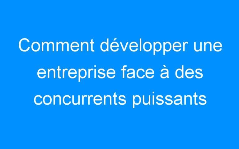 Comment développer une entreprise face à des concurrents puissants par Sébastien de Chezelles